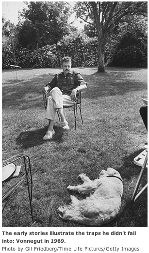 Vonnegut With Dog 1969